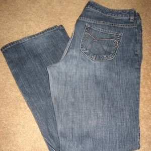 Womens CHICO'S Bootcut Stretch Jeans 1.5 10 Short